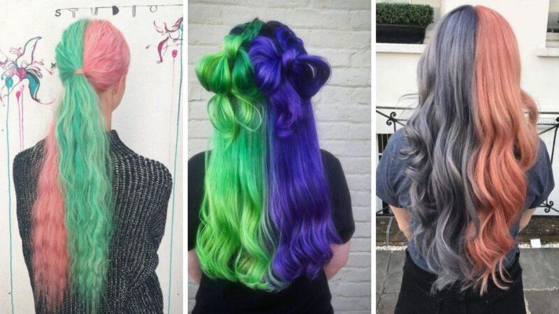 kolorowe włosy, pastelowe wlosy