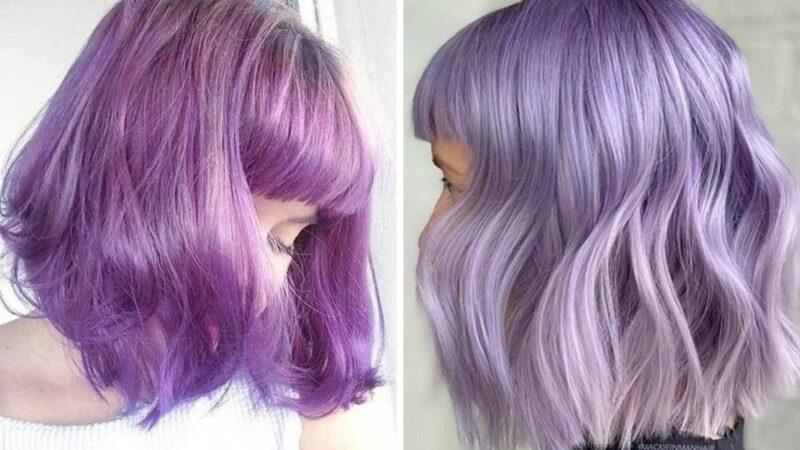 włosy z grzywka, lawendowe krótkie włosy, pomysły na krótkie fryzury