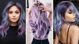 lawendowe włosy, kolorowe włosy, fioletowe włosy