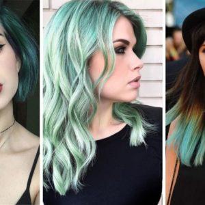 miętowe włosy, miętowy kolor włosów