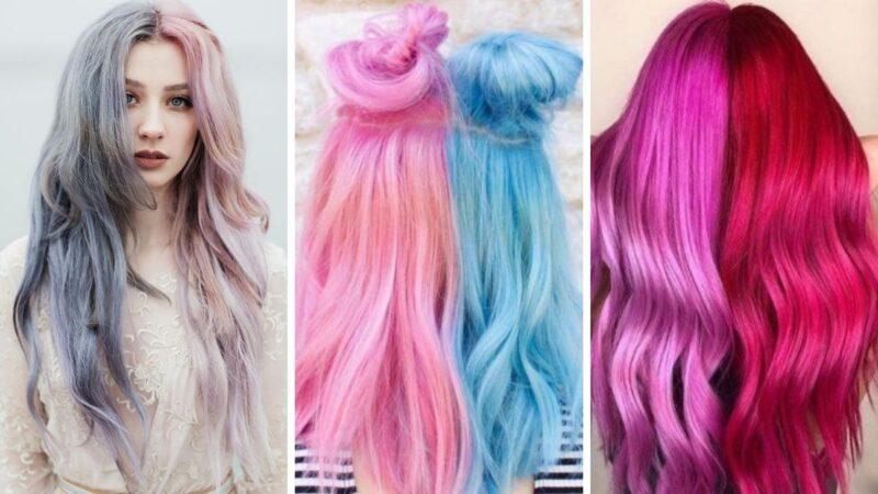 pastelowe włosy, różowe włosy, błękitne włosy, kolorowe włosy