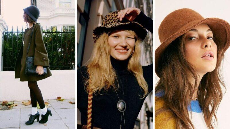 chapeu-cloche, elegancki damski kapelusz, kapelusz młodzieżowy