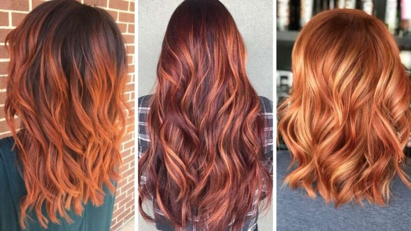koloryzacja na jesien, trendy jesień 2019, burnt sienna hair