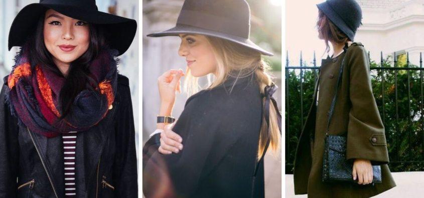 jesienne kapelusze fryzury, fryzury z kapeluszami, fryzury na jesień