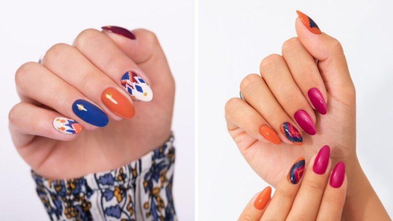 jesienne kolory na paznokcie, modny manicure na jesień, jak pomalować paznokcie na jesień