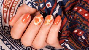 jesienny manicure, paznokcie na jesień