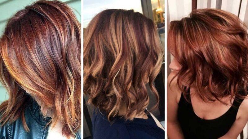 trendy koloryzacja 2019, trendy jesień 2019, ciemne rude włosy