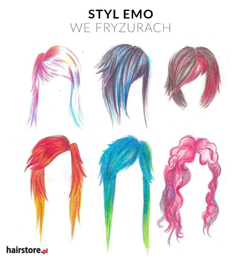 emo fryzury, fryzury emo, emo styl