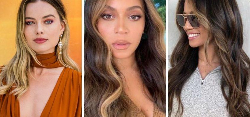 money piece, trendy 2019, koloryzacja w stylu gwiazd
