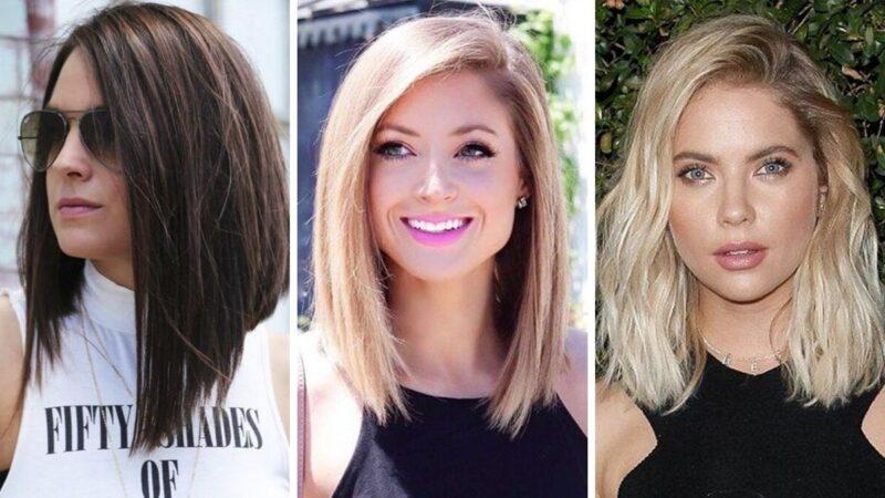 fryzury 2019, modne fryzury, fryzury damskie, lob