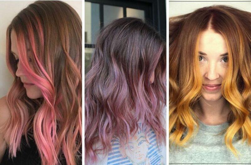 kolorowe włosy, rózowe włosy, fioletowe włosy, żółte włosy