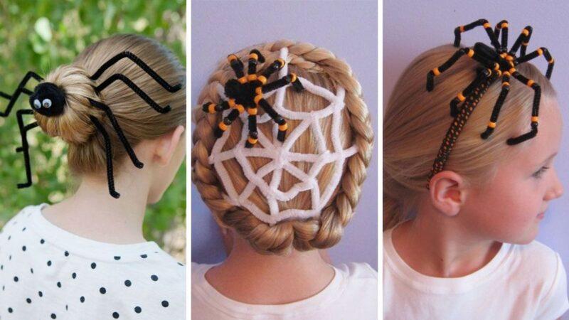 jak uczesać dziecko na halloween, jak uczesać na halloween dziewczynkę