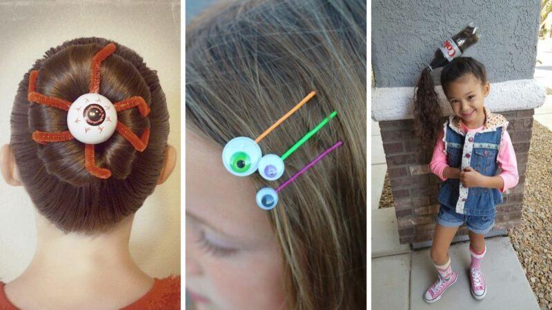 śmieszne fryzury dla dzieci, śmieszne fryzury dla dziewczynek