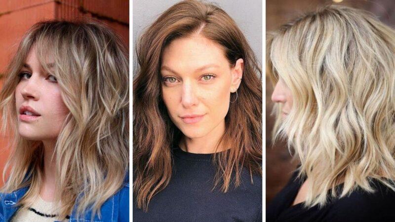 shaggy lob, zmierzwione włosy, messy hair, lob fryzura