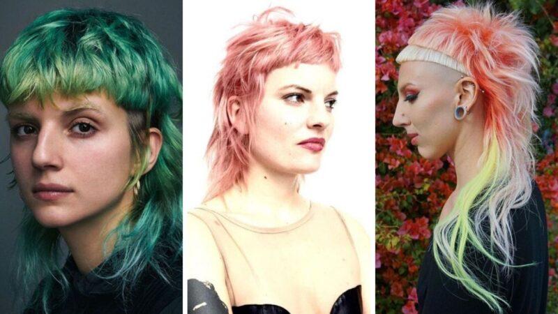 kolorowe włosy, tęczowe włosy, różowe włosy