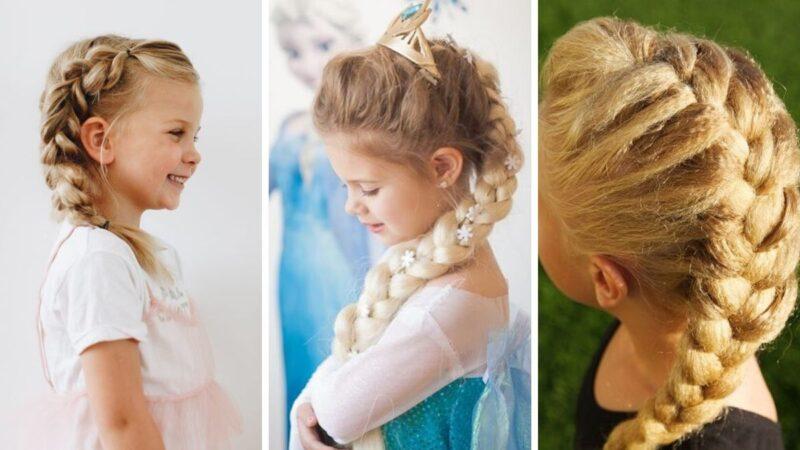 kraina lodu, frozen, fryzury dla dziewczynek, fryzury z bajek