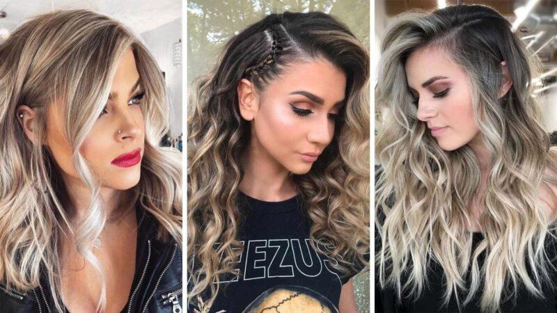 fale na włosach, włosy falowane, fryzury na sylwestra 2019