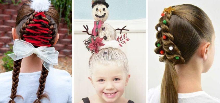 fryzury dla dziewczynek na święta