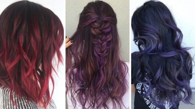 kolorowe włosy, kolorowy balayage