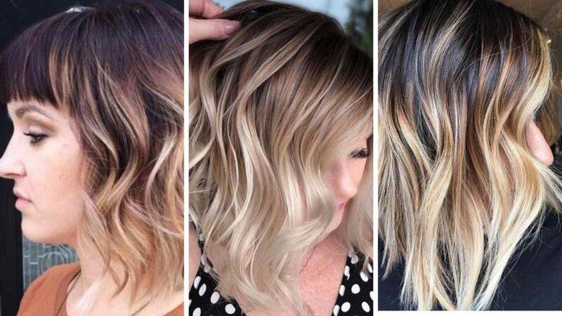 fryzury krotkie włosy, krótkie włosy baleyage