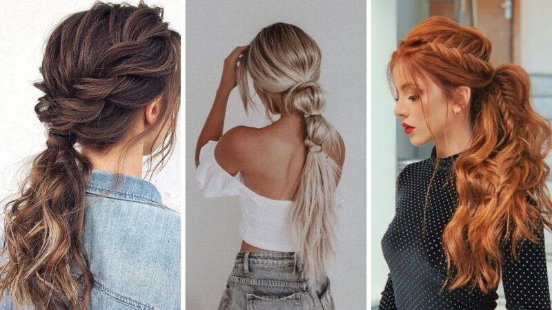 eleganckie fryzury długie włosy, fryzury na karnawał 2020, fryzury długie włosy