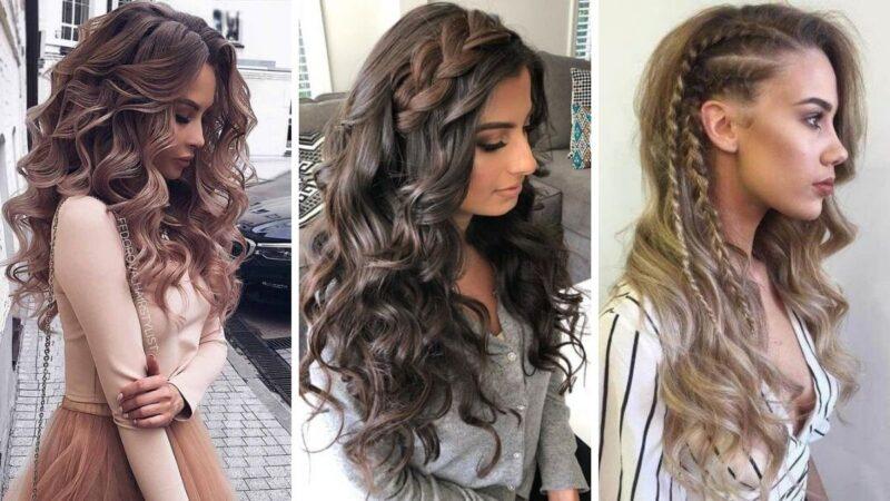 loki na sywestra, fryzury z długich włosów na sylwestra