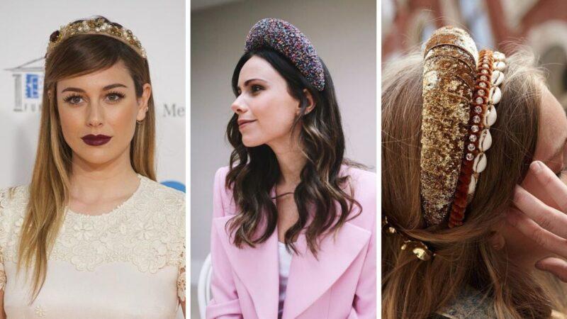 opaski do włosów, opaski w stylu lat 60, modne opaski, fryzury z opaskami