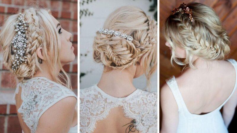 upięcia na wesele, modne fryzury na wesele, dodatki do fryzur weselnych