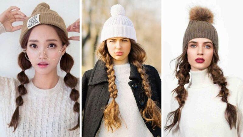 warkocze na boku, ładne warkocze, ciekawe warkocz,e dwa warkocze, fryzury na zimę