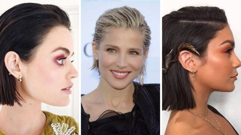 wet look, krótkie włosy fryzury, fryzury na sylwestra z krótkich włosów