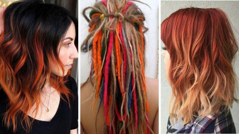 hot cheetos hair, kolorowe włosy, czerwone włosy, pomarańczowe włosy