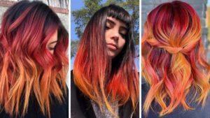 hot cheetos hair, czerwone włosy, pomarańczowe włosy, trendy 2020, trendy zima