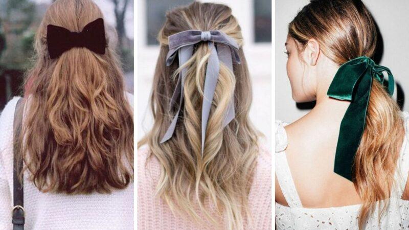 damskie fryzury, fryzury z kokardą, fryzury dla kobiet