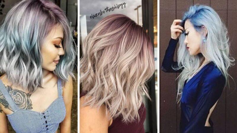 włosy blond, platynowe włosy, niebieskie włosy