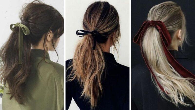 fryzury z kokardą, kokardy do włosów