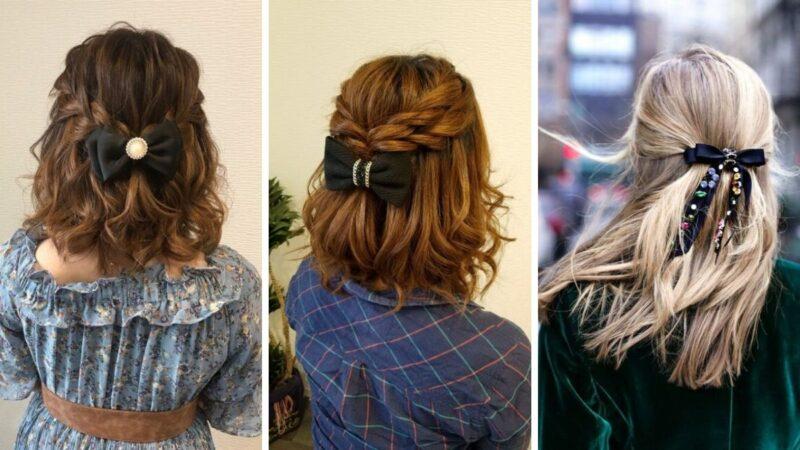 kokardy do włosów, modne kokardy