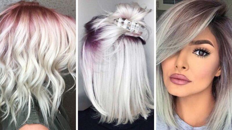 krótkie kolorowe włosy, krókie włosy fryzury, kolorowy przedziałek