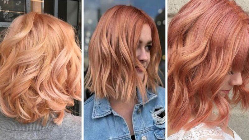 trendy w koloryzacji 2020, dyniowy róż, pumpkin rose hair