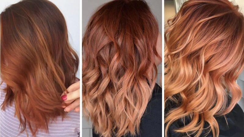 włosy dyniowy róż