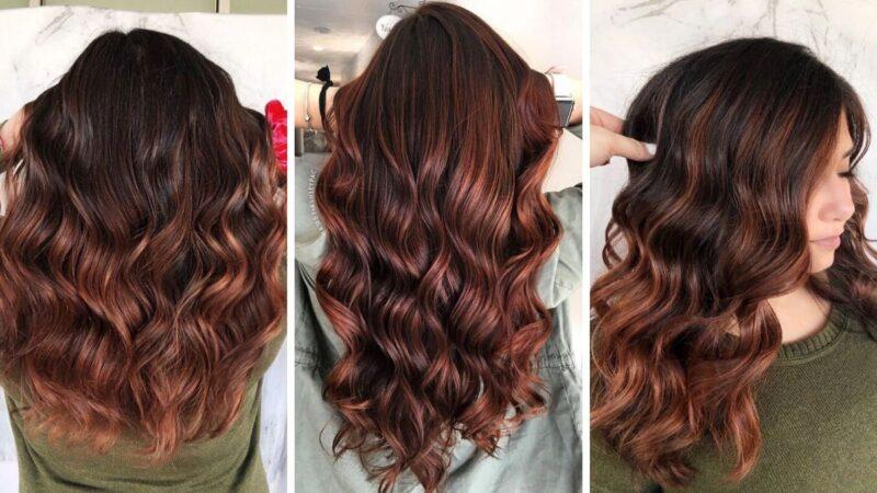 malinowy burbon, czerwone włosy, brązowe wlosy, koloryzacja dla szatynek, koloryzacja dla brunetek