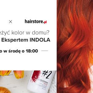 szkolenie online, jak odświeżyć kolor włosów, odżywki koloryzujące, indola