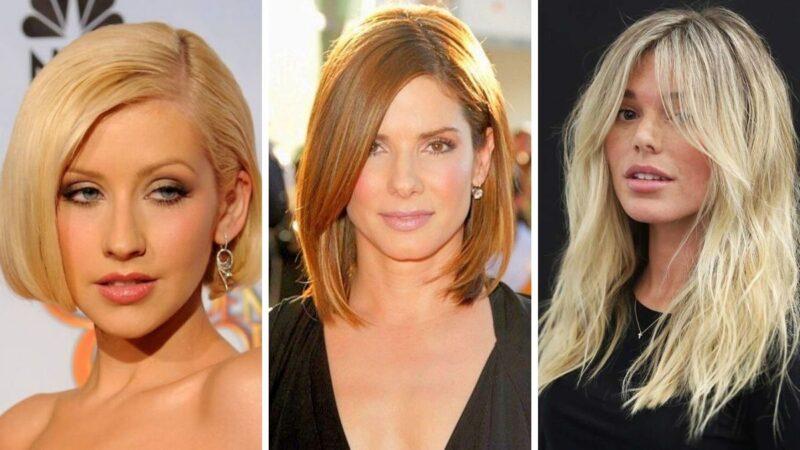 trójkątna twarz fryzury, fryzury dla trójkątnej twarzy