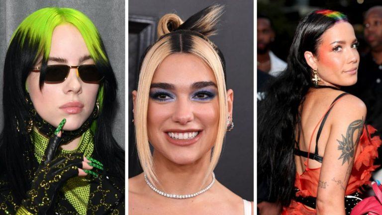 rainbow roots, bold roots, kolorowy przedziałek, trendy 2020, fryzury gwiazd, billie eilish fryzura, dua lipa fryzura, halsey fryzura, trendy 2020