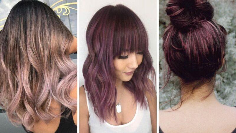 chocolate lilac hair, czekoladowo-fioletowe włosy, brązowe włosy, kolorowe włosy, koloryzacja wiosna 2020, koloryzacja kreatywna