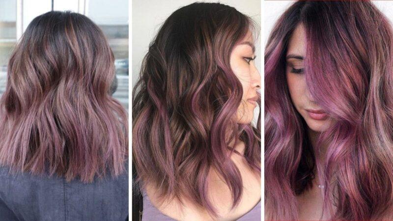 chocolate lilac hair, liliowe włosy, fioletowe włosy, ciemne włosy, jak zafarbować włosy, kolory włosów na wiosnę