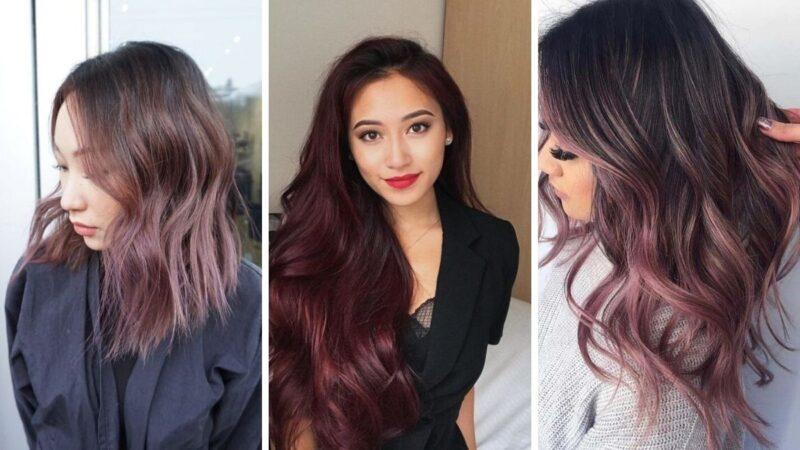 chocolate lilac hair, kolorowe włosy, czekoladowe włosy, czekoladowo-fioletowe włosy, liliowe włosy
