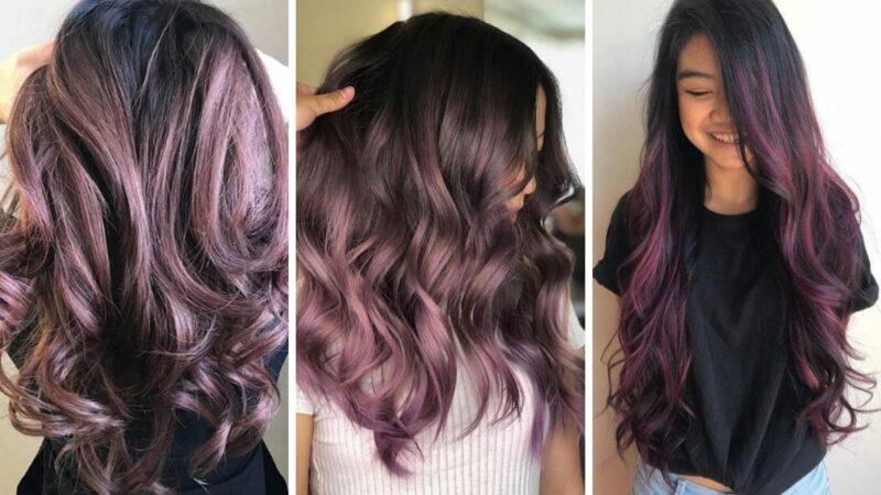 chocolate lilac hair, koloryzacja zmywalna, koloryzacja kreatywna, jaki kolor na wiosnę,