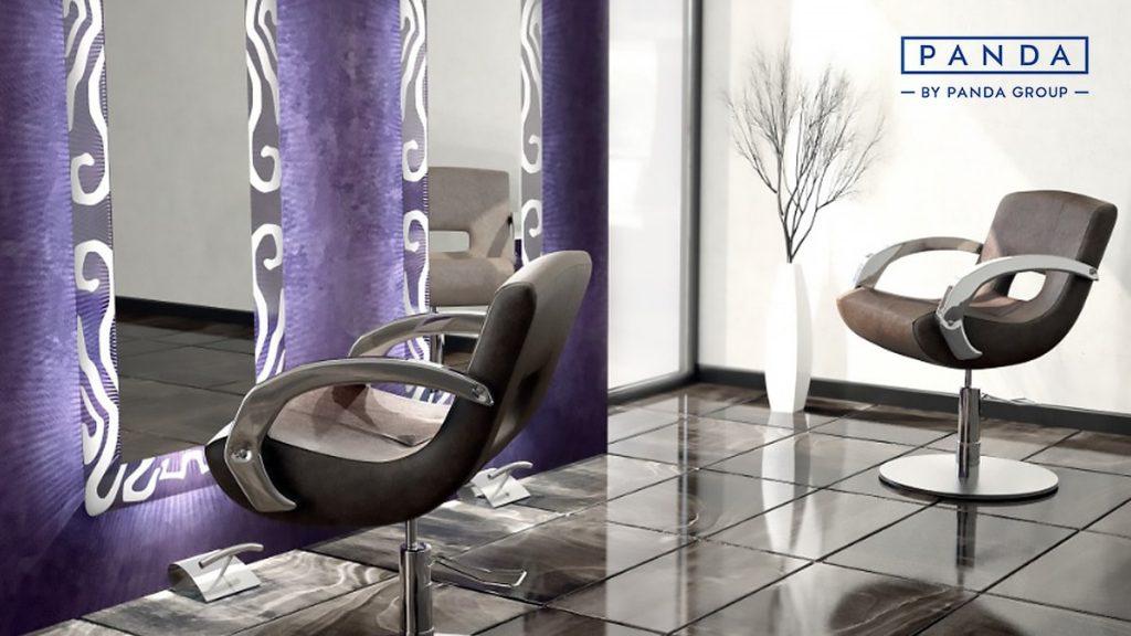 meble fryzjerskie panda, fotele fryzjjerskie panda, meble do salonu fryzjerskiego, urządzanie salonu fryzjerskiego