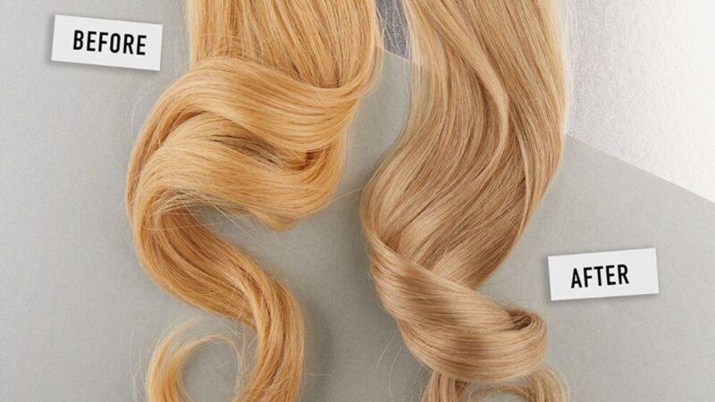 jak ochłodzić kolor włosów, wybijanie ciepłych odcieni, żółte refleksy na włosach, kosmetyki do włosów blond