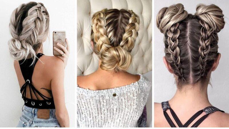 warkocze pomysły na fryzury, fryzury damskie, fryzury z długich włosów